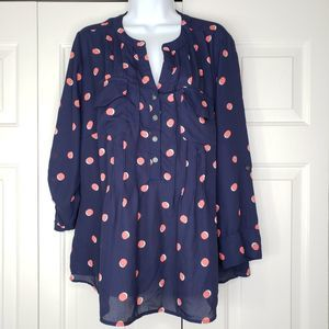 NY Woman Collection Blue Blouse Size 1X